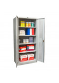 "Hallowell 78"" H Antimicrobial Ventilated Storage Cabinets, Light Grey"