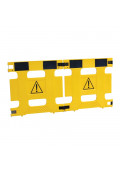 "Vestil 37"" W x 36"" H 2-Panel Multi-Purpose Plastic Barricade, HG-2F"