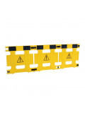 "Vestil 37"" W x 36"" H 3-Panel Multi-Purpose Plastic Barricade, HG-3F"