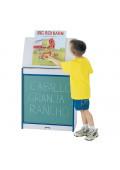 "Jonti-Craft Rainbow Accents 24"" W Chalkboard Mobile Big Book Easel"