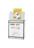 "Jonti-Craft Rainbow Accents 24"" W Write-n-Wipe Magnetic Dry Erase Mobile Big Book Easel"