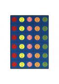 Joy Carpets Circles & Symbols Rectangle Classroom Rug
