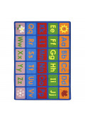 Joy Carpets Any Day Alphabet Classroom Rug, Primary