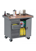 "Tennsco 42"" Wide Mobile Workbenches"