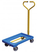 "Vestil Polyethylene Plastic Dolly with Handle 500 lb Load, 16"" x 24"""