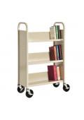"""Sandusky 32"""" W 3 Sloped-Shelf School Book Cart"""