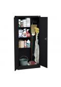 "Sandusky 36"" W x 24"" D x 72"" H Janitorial Combination Storage Cabinet, Assembled"