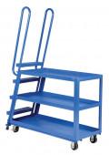 Vestil Spring Loaded 1000 lb Load Steel Heavy Duty Stock Picker with Ladder