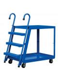 Vestil Spring Loaded 1000 lb Load Steel Stock Picking with Ladder