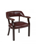 Office Star Work Smart Traditional Vinyl Wood Guest Chair