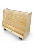"""Whitney Brothers 36"""" W Deluxe Double Sided Mobile Book Display Stand"""