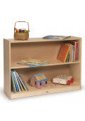 "Whitney Brothers 26"" H 2-Shelf Space Saver Bookshelf"