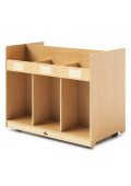 """Whitney Brothers 38"""" W Double Sided Mobile Book Display Library Cabinet"""
