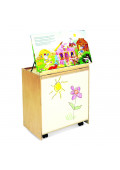 """Whitney Brothers 24"""" W Mobile Big Book Display and Storage with Write and Wipe Markerboard"""
