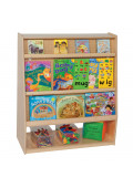 """Wood Designs School Library Mobile Shelving Display and Storage Unit, 44"""" H x 30"""" W x 18"""" D"""
