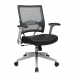 Office Star Professional Synchro-Tilt AirGrid Mesh-Back Leather Managers Chair
