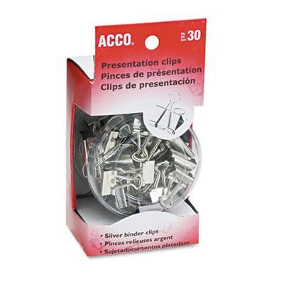 Acco Assorted Size Silver Presentation Clips 30/box