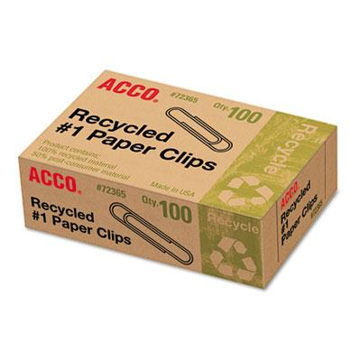 Acco No. 1 Recycled Paper Clips 1000-paper Clips