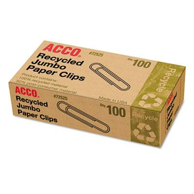 Acco Jumbo Recycled Paper Clips 1000-paper Clips
