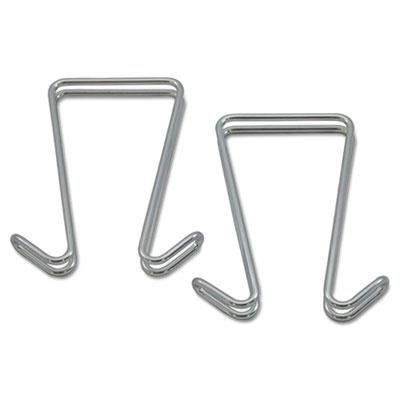 Alera 2-Garment Double Sided Partition Hook  2-Pack  Silver CH2SR