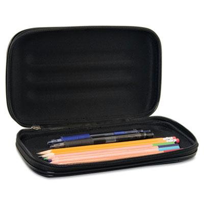 Advantus Large Soft-sided Pencil Case With Zipper Closure Black