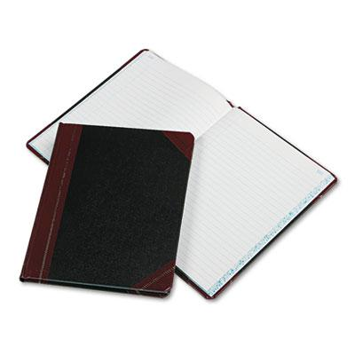 "Boorum & Pease 7-5/8"" X 9-5/8"" 150-page Record Rule Account Book Black/red Cover"