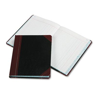 "Boorum & Pease 7-5/8"" X 9-5/8"" 300-page Journal Rule Record Account Book Black/red Cover"