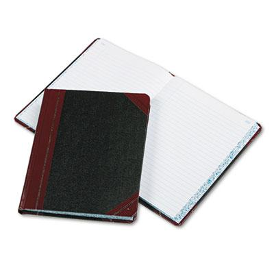 "Boorum & Pease 7-5/8"" X 9-5/8"" 300-page Record Rule Account Book Black/red Cover"