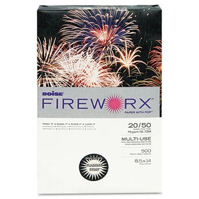 "Boise Fireworx 8-1/2"" X 14"" 20lb 500-sheets Flashing Ivory Colored Printer Paper"