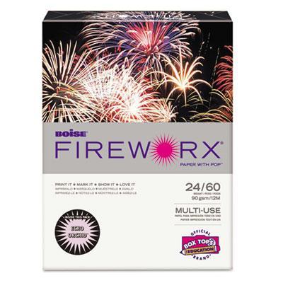 "Boise Fireworx 8-1/2"" X 11"" 24lb 500-sheets Echo Orchid Colored Printer Paper"
