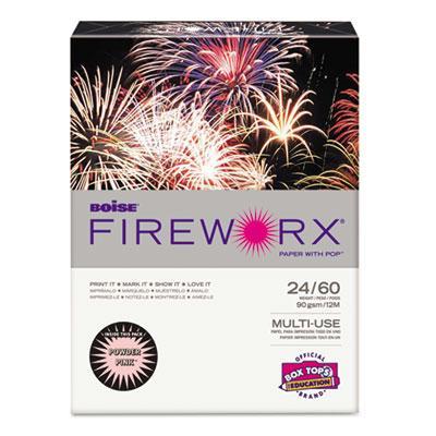 """Boise Fireworx 8-1/2"""" X 11"""" 24lb 500-sheets Powder Pink Colored Printer Paper"""