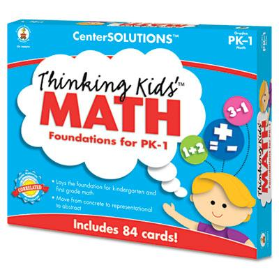 Carson-dellosa Centersolutions Grade Pre K-1 Thinking Kids Math Cards