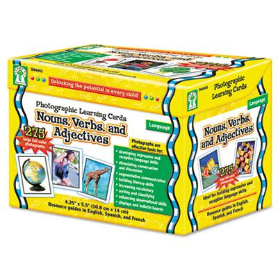Carson-dellosa Nouns Verbs Adjectives Grades K-12 Photographic Learning Cards Boxed Set