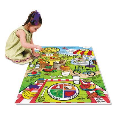 Chenille Kraft WonderFoam Land Of Nutrition Floor Puzzle  63 Pieces 4412