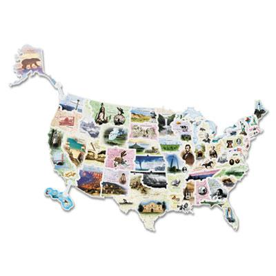 Chenille Kraft WonderFoam USA Photo Map Floor Puzzle  57 Pieces 4475