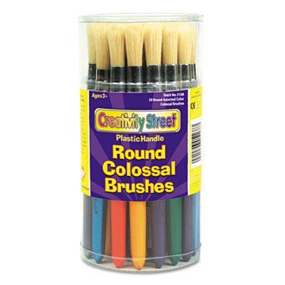 Creativity Street Round Natural Bristle Colossal Brush 30/set