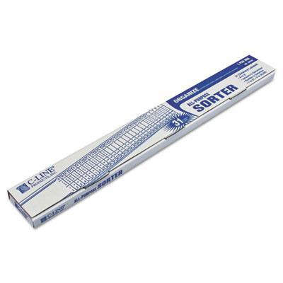 C-line Letter Plastic Indexed Sorter Blue