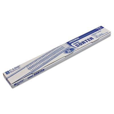 C-line Letter Plastic Indexed General Sorter Blue