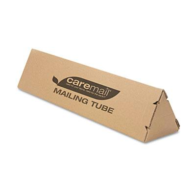 "Caremail 4"" X 18"" Triangular Mailing Tube Brown 12/pack"