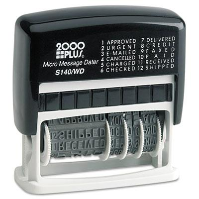 2000 Plus Self-inking Micro Message Dater Black Ink