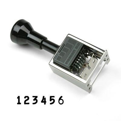 Cosco Reiner Multiple Movement Numbering Machine Pre-inked/re-inkable Black Ink
