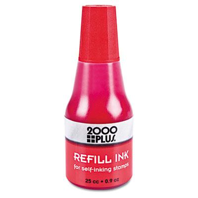 2000 Plus Self-inking Refill Ink .9 Oz Bottle Red