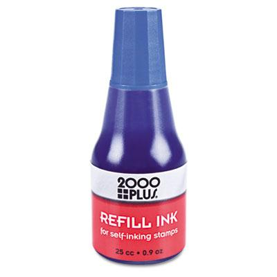 2000 Plus Self-inking Refill Ink .9 Oz Bottle Blue