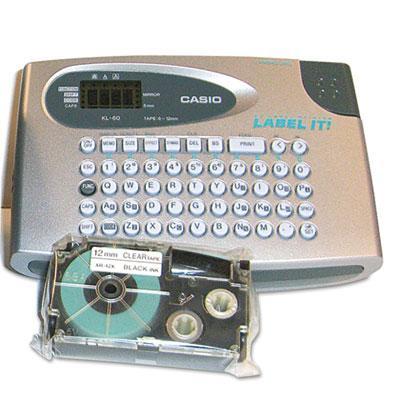 Casio Kl60sr Compact Ez-label Label-it! Label Maker Kit