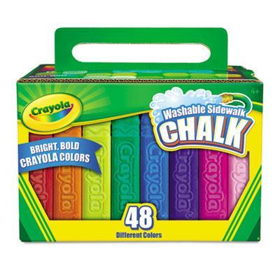 "Crayola Washable 4"" Sidewalk Chalk Assorted 48-sticks"