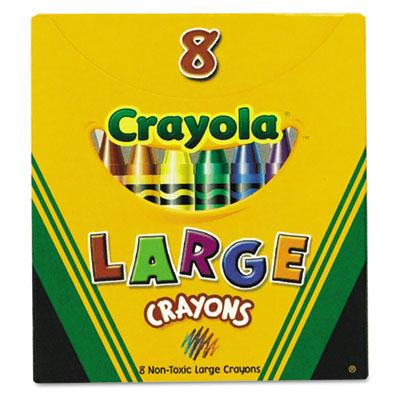 Crayola Large Crayons  8-Colors 520080