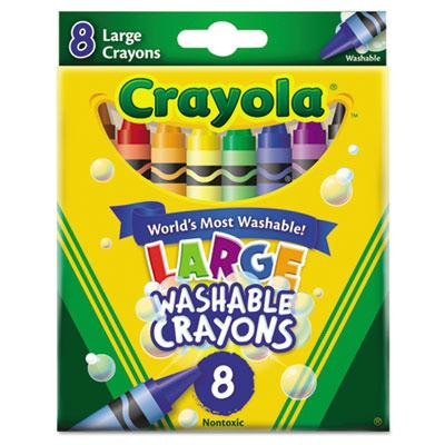 Crayola Large Washable Crayons  8-Colors 523280
