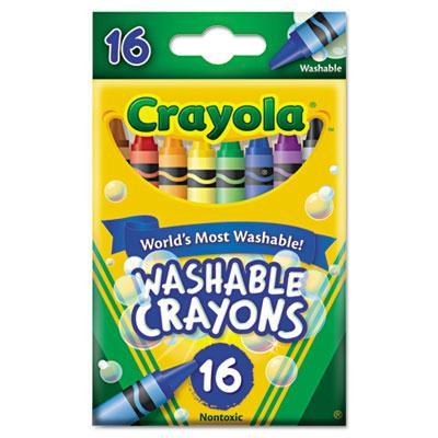 Crayola Washable Crayons  8-Colors  16-Crayons 526916