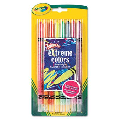 Crayola Twistables Crayons  8-Neon Colors 529738