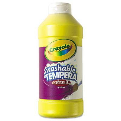 Crayola Artista II 16 oz Washable Tempera Paint  Yellow 543115034